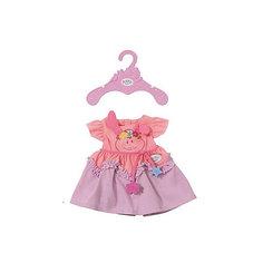 Платье для куклы BABY born, розово-сиреневое Zapf Creation