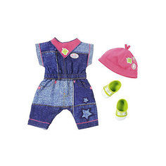 "Одежда для куклы BABY born ""Джинсовая коллекция"", комбинезон Zapf Creation"