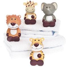 Игрушки для купания  Жираф, слон, тигр, лев, Динглисар, Teddykompaniet