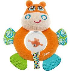 "Мягкая игрушка-погремушка ""Бегемот Hippo"", Chicco"