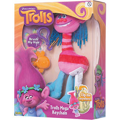 """Мягкая игрушка """"Тролль, с расческой и карабином"""" Zuru"""