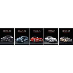 """Комплект тетрадей в клетку АппликА """"Luxury Car"""" 5 шт, 48 листов"""