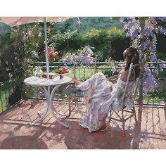 Картина по номерам Белоснежка «Утро на террасе», 40x50 см
