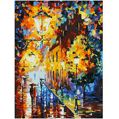 Картина по номерам Белоснежка «Огни в ночи», 30x40 см
