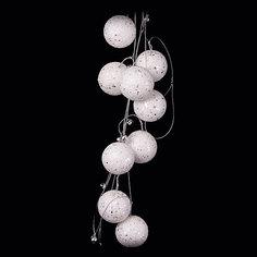"""ёл. укр. бусы """"CLASSIC WHITE"""" с шариками, 180см, 1шт, белый Marko Ferenzo"""