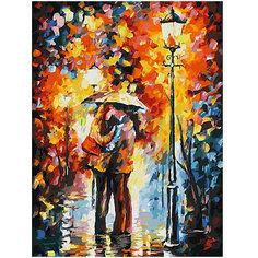 Картина по номерам Белоснежка «Поцелуи под дождем», 30x40 см