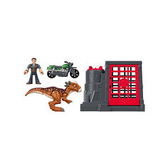 """Игровой набор Jurassic World """"Динозавры и герои"""" Стигимолох и Оуэн Грейди Mattel"""