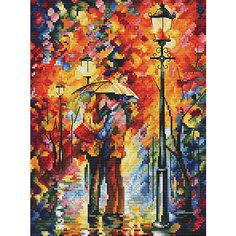 Набор для вышивания Белоснежка «Поцелуй под дождем», 27х35 см