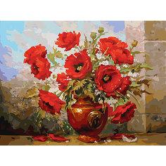 Картина по номерам Белоснежка «Маки», 30x40 см