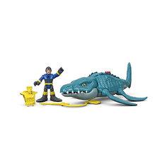 """Игровой набор Jurassic World """"Динозавры и герои"""" Мозазавр и Драйвер Mattel"""
