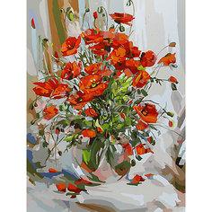 Картина по номерам Белоснежка «Букет маков», 30x40 см