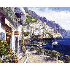 Картина по номерам Белоснежка «Утренний городок», 40x50 см