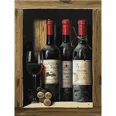 Картина по номерам Белоснежка «Коллекционное вино», 30x40 см