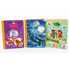 """Комплект книг Disney  """"Азбука, Легенды о чудовище, Королевские питомцы"""" Проф Пресс"""
