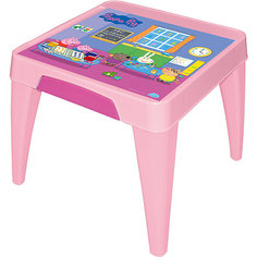 "Стол ""Я расту""  ""Свинка Пеппа"", Little Angel, розовый"
