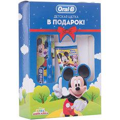 """Детская зубная щетка Oral-B """"Mickey For Kids"""" 20, синяя + Зубная паста Stages Ягодный взрыв, 75 мл"""