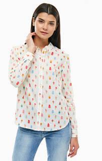 Хлопковая рубашка с длинными рукавами Cath Kidston