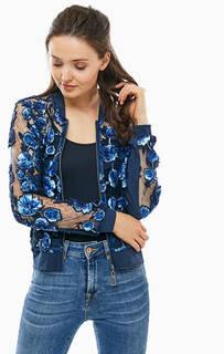 Прозрачная куртка с цветочным принтом MY Twin