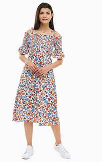 Платье средней длины с цветочным принтом Tom Tailor Denim