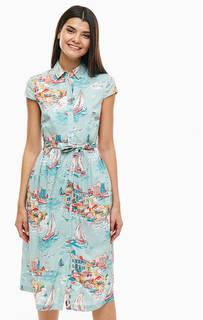 Хлопковое платье с поясом Cath Kidston