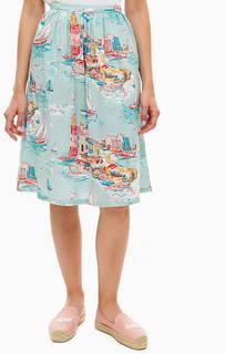Расклешенная юбка из хлопка Cath Kidston