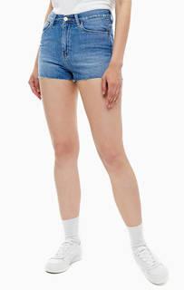 Короткие джинсовые шорты с декоративными потертостями Carhartt WIP