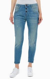 Укороченные джинсы бойфренд синего цвета Mustang