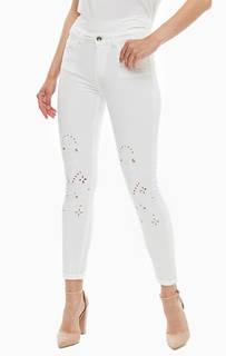 Зауженные белые джинсы с высокой талией Liu Jo