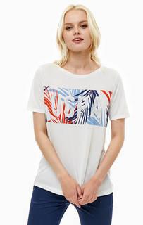 Белая футболка с принтом U.S. Polo Assn.