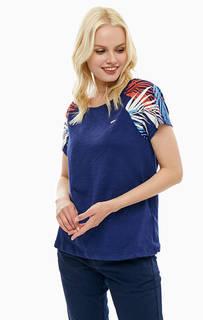 Хлопковая футболка с принтом на рукавах U.S. Polo Assn.