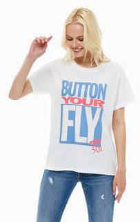 Хлопковая футболка с принтом 501® DAY Levis®