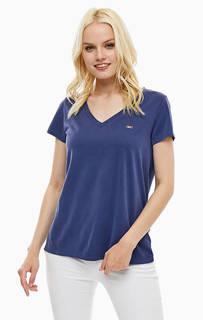 Однотонная футболка с треугольным вырезом U.S. Polo Assn.