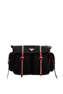 Черная сумка с отделкой Prada