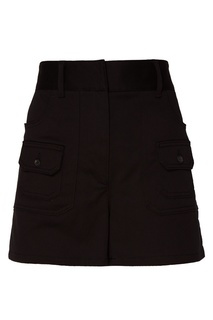 Черные шорты с накладными карманами Prada