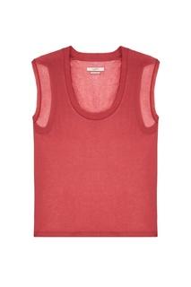 Розовая футболка с шелком и кашемиром Isabel Marant Etoile