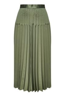 Зеленая плиссированная юбка Junya Watanabe