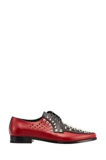 Туфли с заклепками и перфорацией Prada