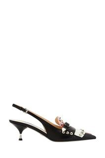 Туфли с объемной отделкой Prada