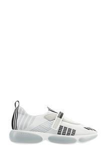 Кроссовки с текстильной отделкой Prada