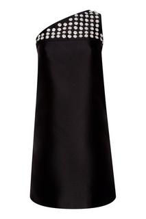 Платье на одно плечо с отделкой Prada