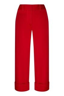 Красные короткие брюки Prada