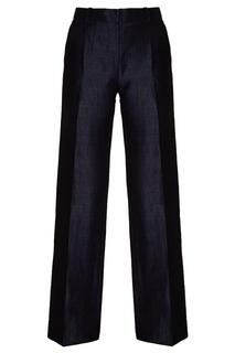 Прямые брюки из льна и хлопка с блеском Mimo Lungo Amina Rubinacci