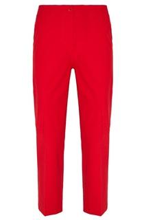 Бордовые брюки из хлопка Amina Rubinacci