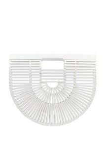 Белая сумка из бамбуковых палочек Ark Cult Gaia
