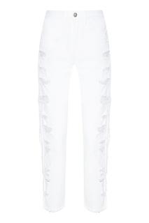Белые джинсы с потертостями 3х1
