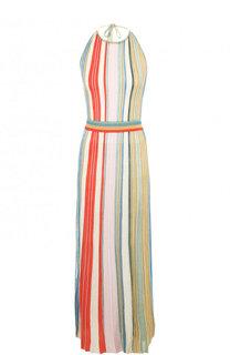Приталенное вязаное платье-миди с открытой спиной Missoni