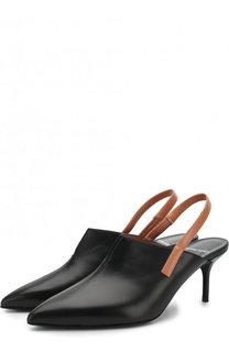 Кожаные туфли с ремешком на шпильке Pierre Hardy