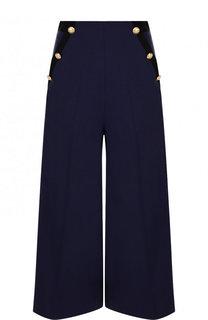 Укороченные расклешенные брюки из шерсти Lanvin