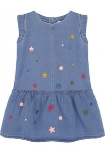 Джинсовое мини-платье с глиттером Marc Jacobs