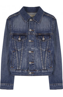 Джинсовая куртка с декоративными потертостями Polo Ralph Lauren